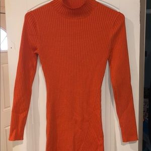 Orange knit dress from H&M . Good for fall